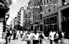 Istiklal Street (n.okyayli) Tags: istanbul istiklalcaddesi blackandwhite bw analog 35mm film ilford canonav1 monochrome
