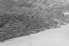 At the beach (Bente Nordhagen) Tags: abstrakt bw bølgemønser mønsterisand sand strand svarthvitt beach seaside blackandwhite abstract
