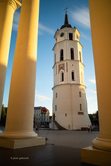 Bell Tower (pietkagab) Tags: bell tower vilnius cathedral columns longexposure lithuania city clouds sunny evening europe european architecture pietkagab photography piotrgaborek sonya7 travel trip tourism oldtown sightseeing
