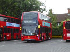 GAL EH315 - YW19VPG - MB ORPINGTON BUS GARAGE - WED 7TH AUG 2019 (Bexleybus) Tags: goahead go ahead london metrobus mb bus garage orpington br6 farnborough hill kent adl dennis enviro 400 mmc hybrid tfl route 320 rare eh315 yw19vpg