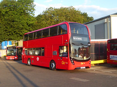 GAL EH325 - YW19VPU - MB ORPINGON BUS GARAGE - TUE 6TH AUG 2019 (Bexleybus) Tags: goahead go ahead london metrobus mb bus garage orpington br6 farnborough hill kent adl dennis enviro 400 mmc hybrid tfl route nis not in service eh325 yw19vpu