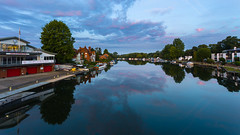 Blue Hour Changing  (Explored 11-08-2019 ) (THE NUTTY PHOTOGRAPHER) Tags: marlow bluehour blue boats reflections wetreflection trees riverthames clouds