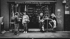 a short story about the fine cacao (ignacy50.pl) Tags: citylife street streetphotography streetview blackandwhite monochrome reportage people bar restaurant bistro london