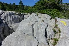 Trail marker @ Plateau @ Hike to Parmelan (*_*) Tags: plateau parmelan bornes 2019 ete summer august afternoon hiking mountain montagne nature randonnee trail sentier walk marche europe france hautesavoie 74 annecy savoie limestone calcaire lapiaz pavement
