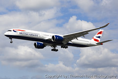 British Airways, G-XWBA (Thomas Naas Photography) Tags: england grossbritannien great britain london lhr egll flughafen airport flugzeug aircraft airplane aviatik aviation airbus a350 a35k a3501000 british airways