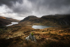 The Valley (Einir Wyn Leigh) Tags: landscape valley light outside rural rugged lakes water clouds sky nature park uk wales storm mountains colorful nikon