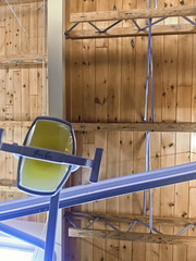 Apricot (jkotrub) Tags: summer sun sunshine color colorful coloring2019 coloring colors apricot tan wood roof ceiling lookup up dentist cleaning light openbare rustic glow