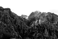 Snow on the Mountain--Black and White (picturetakingone) Tags: red rock canyon nevada mountains mountain las vegas cloud clouds scenery day snow weather black white blackandwhite ansel adams landscape ice clarkcounty nv townname