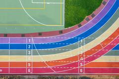 彩虹跑道|Rainbow playground (里卡豆) Tags: 清水區 臺中市 中華民國 aerial photography aerialphotography dji 大疆 空拍機 mavic2 drone mavic2pro