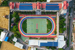 彩虹跑道|Rainbow playground (里卡豆) Tags: photography aerial aerialphotography drone 中華民國 dji 臺中市 清水區 空拍機 大疆 mavic2pro mavic2