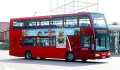Konectbus ltd (Chambers) 876 PN09ENF in Bury St Edmunds Bus Station arriving with a 753 service from Sudbury. (Gobbiner) Tags: scanian230ud 876 burystedmunds pn09enf olympus konectbusltd goaheadgroup optare chambers dareham metrobus 888 bluetriangle