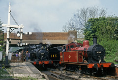 LMS 3F 47357 & 47327 + LMS 7F 13809 Butterley Station (MRC) 14th May 1994 (robinstewart.smith) Tags: lms mr mrc butterley station 3fs 1994