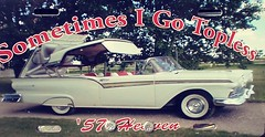 57 Heaven (Mr. Happy Face - Peace :)) Tags: strathmore alberta canada showshine car truck vintage old collectors funrunners mrhappyface chrome color colourful mags lines pov detail custom 57topless art2019