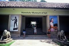 Honolulu Museum of Art (goodfella2459) Tags: nikonf4 afnikkor24mmf28dlens kodakelitechromeextracolor100 35mm e6 slidefilm analog color colour honolulu hawaii building museum honolulumuseumofart history