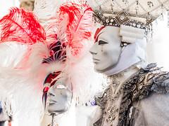maschera (anna barbi) Tags: maschera venezia carnevale bianco predominante piume profilo