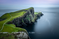 Neist Point Lighthouse dusk! (Nathan J Hammonds) Tags: neist point skye scotland uk dusk sunset lighthouse sea water cliffs seascape landscape long exposure nd filter nikon d850 10stop lee filters summer