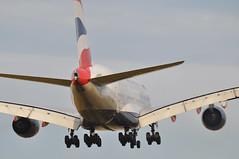 'BA45B' (BA0212) BOS-LHR (A380spotter) Tags: approach landing arrival finals shortfinals threshold airbus a380 800 800igw msn0148 gxlee internationalconsolidatedairlinesgroupsa iag britishairways baw ba ba45b ba0212 boslhr runway27r 27r london heathrow egll lhr