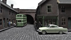 Back Streets of Wakefield. (ManOfYorkshire) Tags: ford capri west riding bus diorama back street streets wakefield scratchbuilt 176 scale oogauge model efe oxforddiecast diecast consul