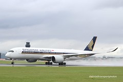 Singapore airlines - 9V-SMO (anthonymurphy5) Tags: outside flickr outdoor aviation flight landing airbus takeoff runway jetplane manchesterairport singaporeairlines aviationphotography 9vsmo aviationpictures a350900 dadnladtransportphotos singapore