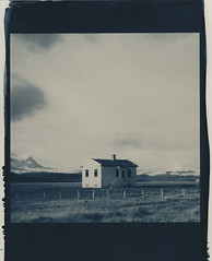 green roof, toned in coffee 5 min (lawatt) Tags: house gjögur árneshreppur westfjords iceland altprocess cyanotype wares hahnemuhleplatinumrag toned