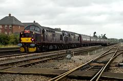 37706 & 37518 (David Blandford photography) Tags: 37706 37518 37669 eastleigheastyard west coast railway wcrc crewe portsmouth 1z74