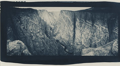 black canyon again (lawatt) Tags: black canyon rock wall gunnison river colorado altprocess cyanotype wares hahnemuhleplatinumrag toned