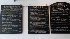 Breakfast menu (Wordshore) Tags: westcountry food nom