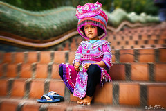 Thai Girl - Ben Heine Photography (Ben Heine) Tags: hug hmong asia cute dress fashion young thai background play ceremony female girl child tribal sisters year karen ethnic temple white kayan asian face hill smile art laugh little people person monument vintage petite costume children new culture girls minority colorful pai beautiful travel nymphet friends portrait outdoor stairs thailand traditional happy doisuthep
