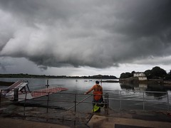 Storm Clouds over Strangford (Feldore) Tags: strangford storm clouds lough water fisherman northern ireland dramatic weather rain feldore mchugh em1 olympus 1240mm