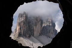 Tre Cime (erwannf) Tags: contrasteélevé encadrer nature noir vénétie italie dolomites
