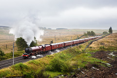 Lizzie on Shap (The Talkin Lens) Tags: 6201 princesselizabeth princessroyal shapwells westcoastmainline cumbrianmountainexpress