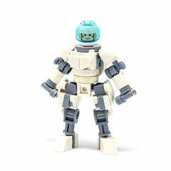 """LEGO """"Actionfig"""" — a fully articulated, mostly han-proportioned body for all your minifigure heads (Alex Kelley) Tags: lego moc afol action figure toy design modular industrial character minifig minifigs minifigure minifigures custom"""