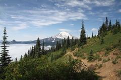 Mount Rainier from Naches Loop Trail (jlcummins) Tags: mountrainiernationalpark washingtonstate nachespeaklooptrail chinookpass hike piercecounty