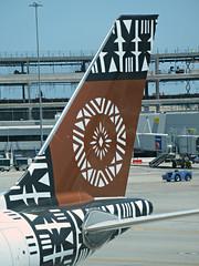 Fiji A330-243 DQ-FJT (kenjet) Tags: fj fiji fijiairways sf sfo ksfo sanfranciscointernationalairport 332 330 a330 airbus a330200 a330243 fjt dqfjt brown islandoftaveuni plane jet flugzeug aviation airline airliner tail logo pattern