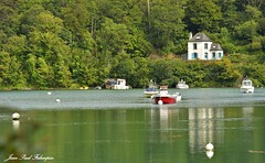 Le Goyen  -  Bretagne (jean-paul Falempin) Tags: rivière reflets bateaux audierne finistère bretagne