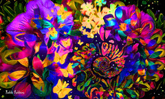 Flower Glow (brillianthues) Tags: fractal flowers floral garden butterflies nature abstract colorful collage photography photmanuplation photoshop