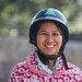 Burmese Woman in Helmet