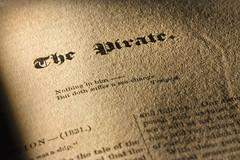 The Original Pentland Pirate (PentlandPirate of the North) Tags: macromondays printedword sirwalterscott book thepirate pentlandpirate papertexture hmm
