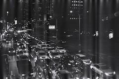 The night. (蒼白的路易斯) Tags: 底片 底片攝影 黑白攝影 yashicaelectro35gsn kodaktmax400 taipei traffic night