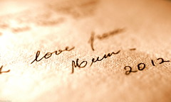 With Love from Mum (Ronnie Gaye) Tags: mother love greetingcard paper printedword macromondays handwriting ink sentimental