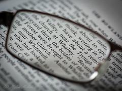 Printed Word (milan_146) Tags: word printed book light texture glasses spectacles closeup nikon d7100 nikkor nikkor105mmf28gvrmicro macromondays printedword