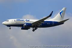 LOT - Polish Airlines (Blue Air), SP-LUA (Thomas Naas Photography) Tags: england grossbritannien great britain london lhr egll flughafen airport flugzeug aircraft airplane aviatik aviation boeing b737 b737700 lot polish airlines blue air