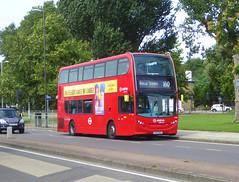 AL T321 - LK65EKZ - YORKSHIRE GREY ELTHAM HILL - SAT 10TH AUG 2019 (Bexleybus) Tags: arriva london adl dennis enviro 400 tfl route 160 t321 lk65ekz bus on diversion eltham green yorkshire grey roundabout hill