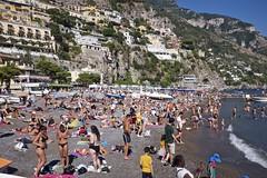 Positano Beach, Italy (I M Roberts) Tags: positano italy beachscene amalficoast fujix100s