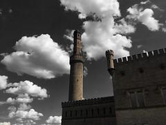 Castle in the sky (Renate R) Tags: sky castle clouds potsdam germany babelsberg steampoweredpumphouse parkbabelsberg sincity