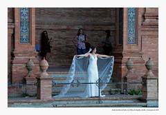 Sesión de fotos de novia en la Plaza de España, Sevilla. (Manolo Campos Conde) Tags: robados bodas reportajes fotógrafo novia plazadeespaña sevilla