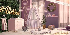 {moss&mink} for Equal10 (Cielo {moss&mink}) Tags: moss mink second life sl secondlife baby babies zooby nursery crib bassinet diaper changing table caddy diapers zoobys virtual world family room bed bedroom decor interior design style equal10 equal 10 compatible