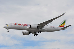 ET-AVC Ethiopian Airbus A350 EGLL 17/6/19 (David K- IOM Pics) Tags: lhr egll london heathrow airport 27r airbus a350 a350900 a359 et ethiopian airlines