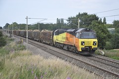 70814 (8A.Rail) Tags: 70814 6j37 timber logs redbank