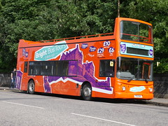 First Scotland East Bright Bus Dennis Trident Alexander ALX400 TSU460 32790 laying over betweeen city sigtseeing tours at Regent Road, Edinburgh, on 8 August 2019. (Robin Dickson 1) Tags: opentopbus dennistrident alexanderalx400 stagecoacheastlondon t679kpu firstscotlandeast ta79 busesedinburgh stagecoacheastcambus brightbustours tsu460